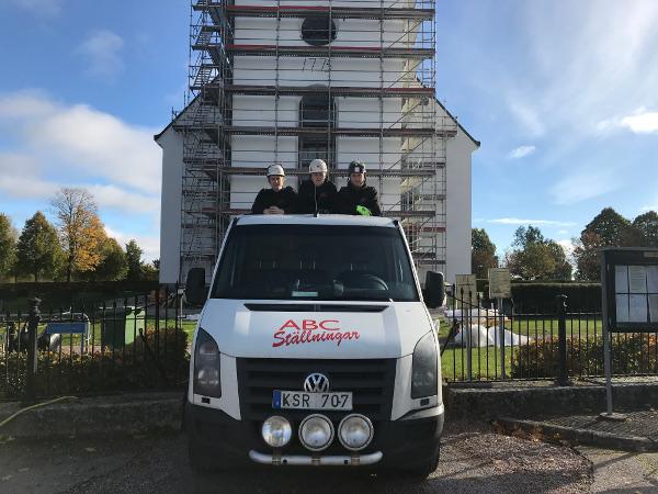ABC Ställningar Gävle och Hedesunda kyrka